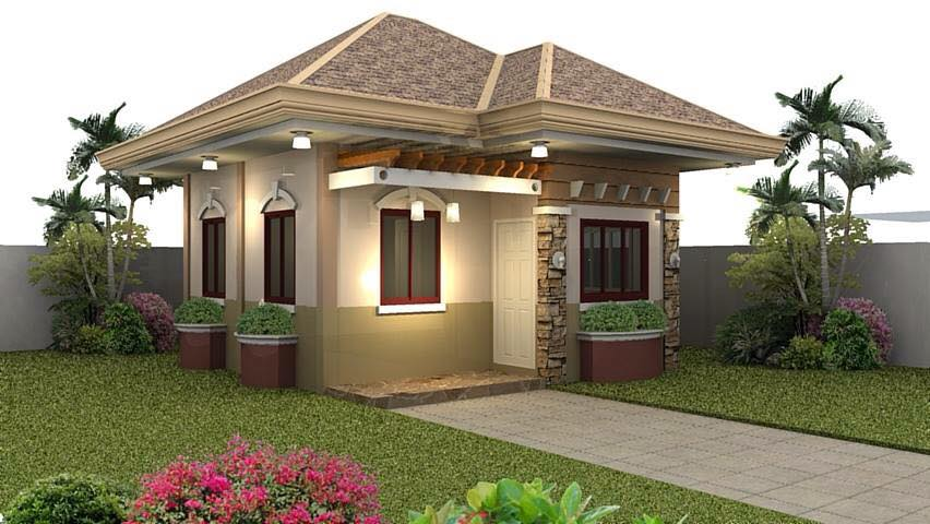 Small house exterior look and interior design ideas - Small home outside design ...