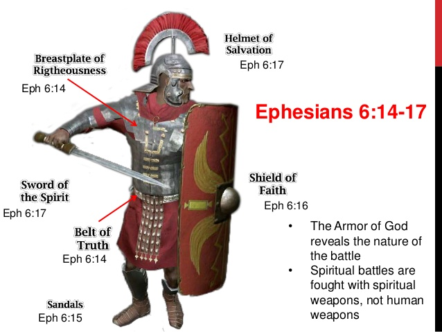 In this battle, Paul wrote about the important of putting on the 'full armour of God' so that 'you can take your stand against the devil's schemes' (Ephesians 6:11).
