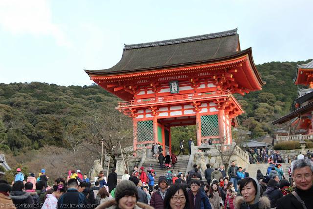 Entrance to Kiyomizudera Templ, Kyoto, Japan