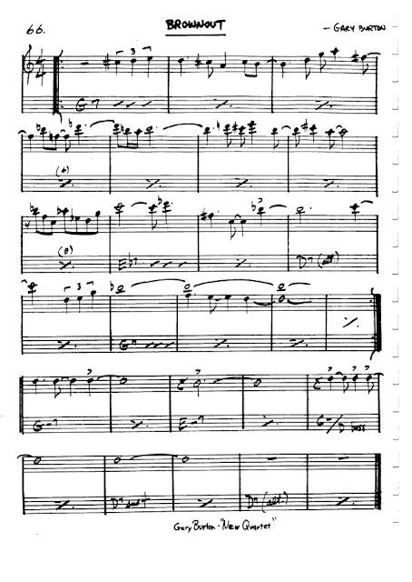 Partitura Violín Gary Burton