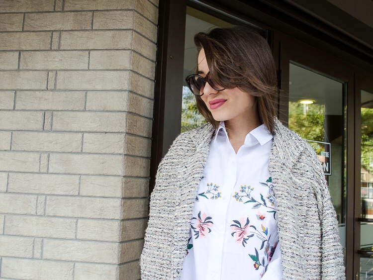 fashion blogger diyorasnotes velvet pants shirt with embroidery