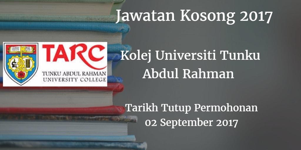 Jawatan Kosong TARC 02 September 2017