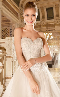 Wedding Dresses: Suli,Luxurious A-line Sweetheart Appliqued Lace Detachable Cathedral Train Wedding Dress