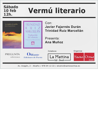 Vermú literario en Santos Ochoa