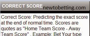 correct score betting type