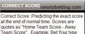 correct score betting type