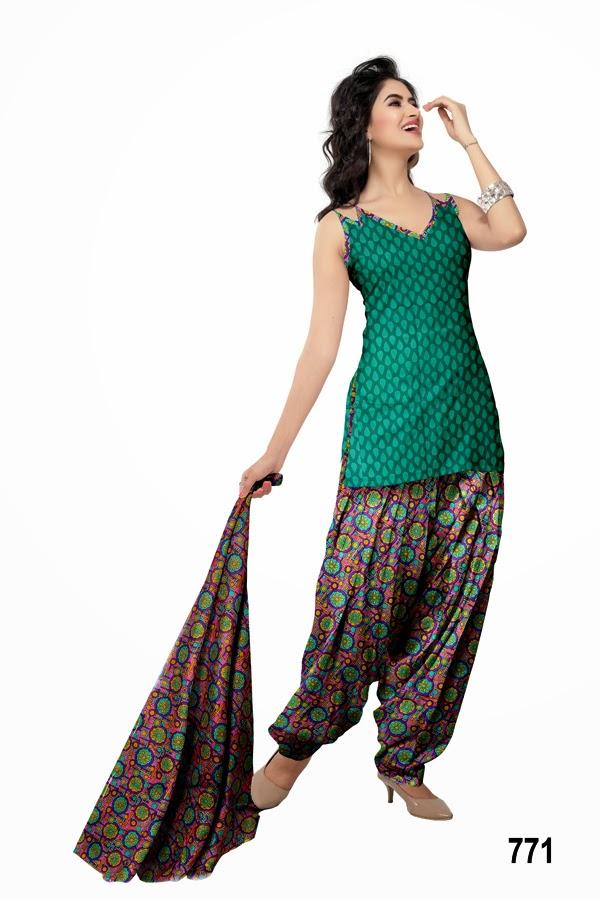 Patiala Fashion Style Cotton Printed Punjabi Salwar