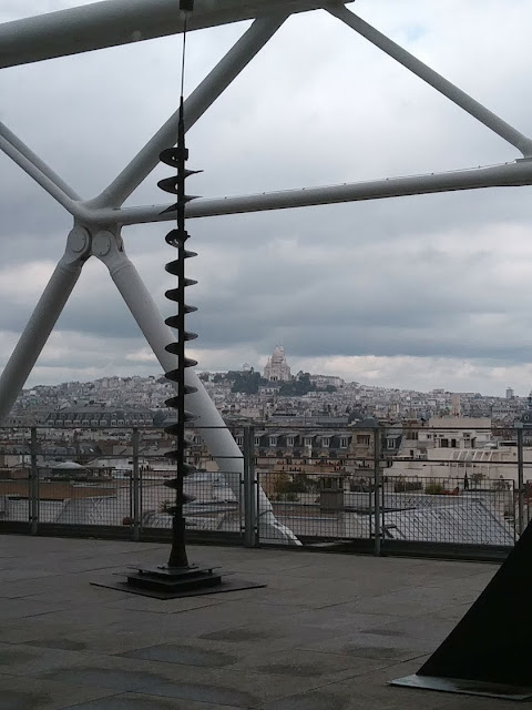 view from the Musee Pompidou Paris October 2017