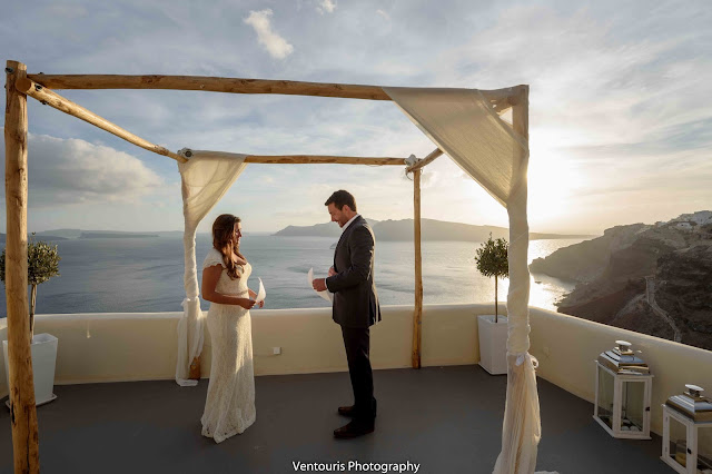 Wedding Inspiration- Oia, Santorini Greece wedding. Photo by Ventouris Photography