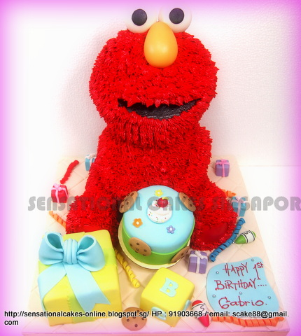 The Sensational Cakes Elmo Cake For Big Party Sesame