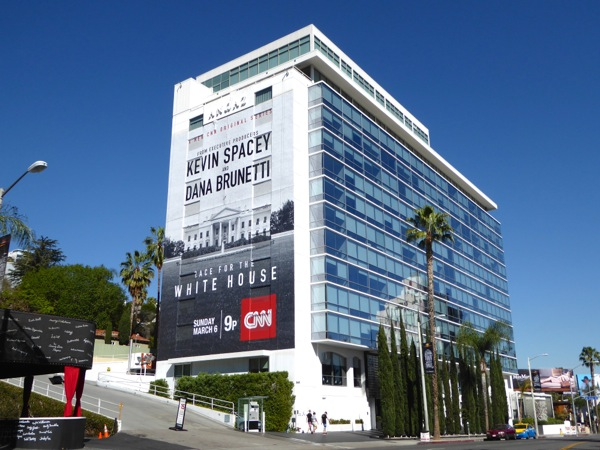 Race for White House CNN billboard Sunset Strip