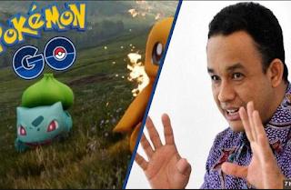 Anak Menteri Anies Tangkap Pokemon GO Malam-Malam Ke Masjid