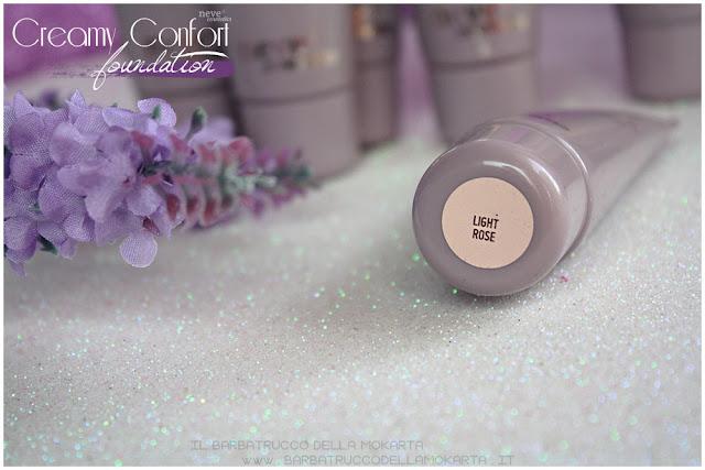 light rose creamy confort foundation Fondotinta Neve Cosmetics