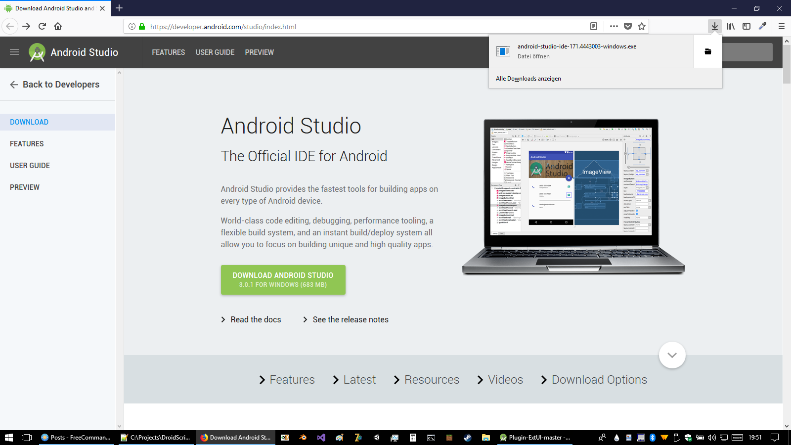 Creating DroidScript Plugins on Desktop PC with Android Studio