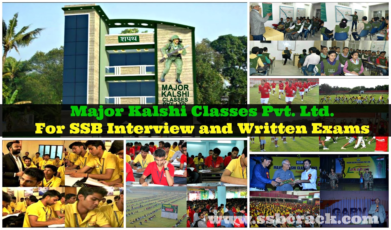 Major Kalshi Classes Pvt. Ltd. For SSB Interview and Written Exams