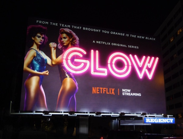 GLOW launch neon sign billboard installation