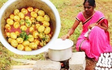 WOW! 100 Chicken Eggs Curry Recipe – Amazing traditional Village Style Cooking Eggs Gravy Recipe