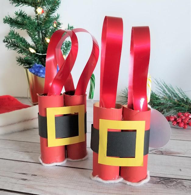 Toilet Paper Roll Santa Gift