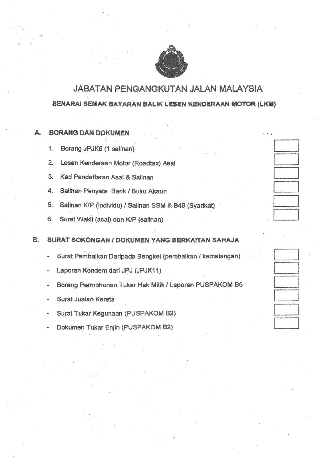 Pembatalan Road Tax