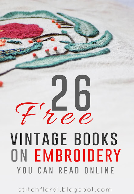26 free vintage embroidery books you can read online