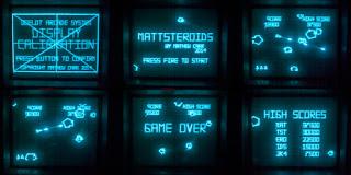 Oszilloskop Asteroids Console Konsole Computerspiele