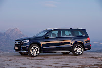 2012 all new Mercedes GL-class luxury suv offroad source media image