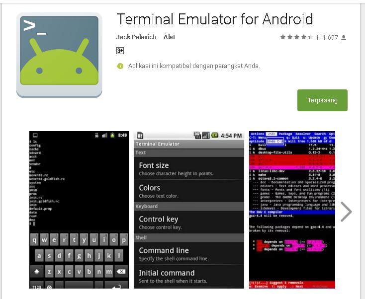 Terminal Emulator untuk Internetan Gratis - Kumpulan Remaja