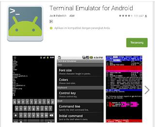 Terminal Emulator untuk internetan gratis