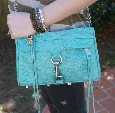 away from the blue rebecca minkoff aquamarine mini mac