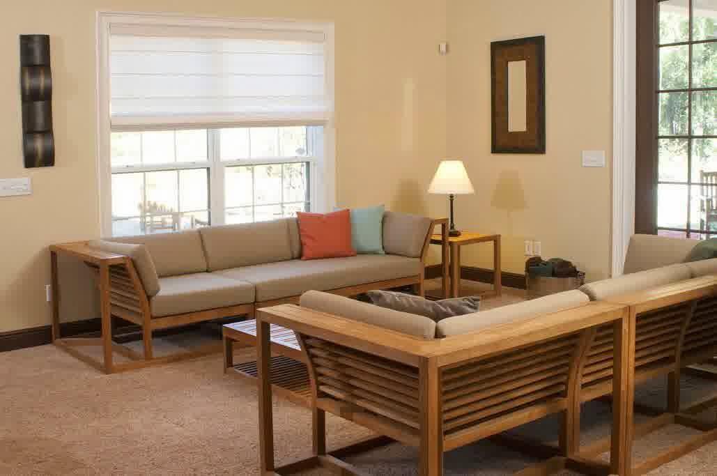 Maya Teak Luxury Furniture Sectional Sofa