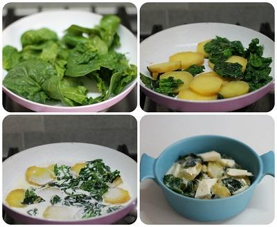 gratin patate spinaci