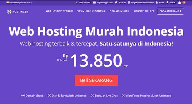 Review Hostinger: Web Hosting Indonesia Murah Berkualitas
