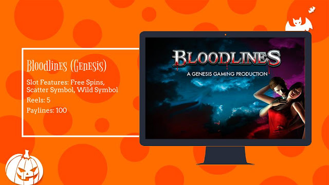 Bloodlines free slot by Genesis Gaming
