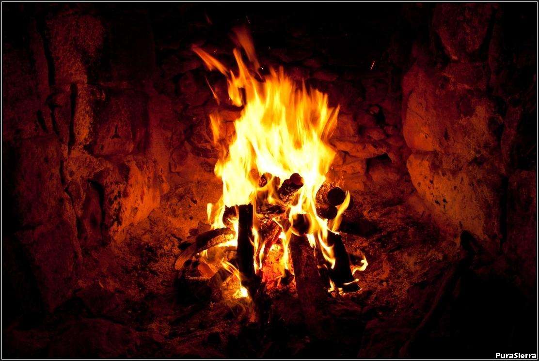 Fuego en el hogar