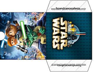 Funda para CD's para imprimir gratis de Star Wars Lego