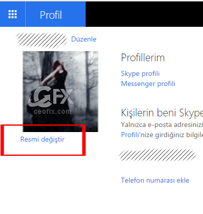 Microsoft Hesabı kullanıcı resmi