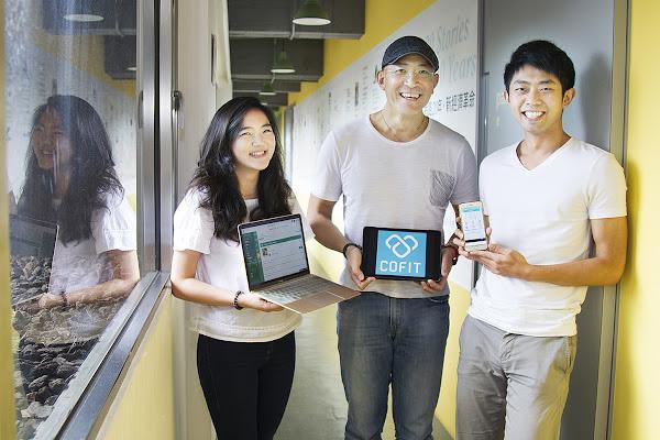 圖說:Cofit團隊,由左至右為陳芊穎、蔣光瑞、林暐淳。攝影:郭涵羚