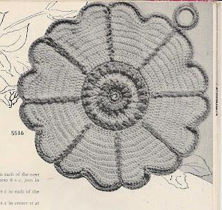 Vintage Crochet Flower Panholder Pattern