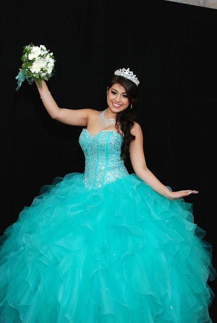 vestidos de 15 años desmontables azul turquesa
