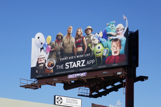 Starz App cut-out billboard
