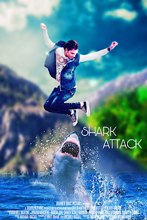 SHARK ATTACK MOVIE POSTER EDITING