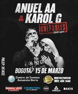 ANUEL & KAROL G en Colombia, Bogotá 2019   Culpables Tour