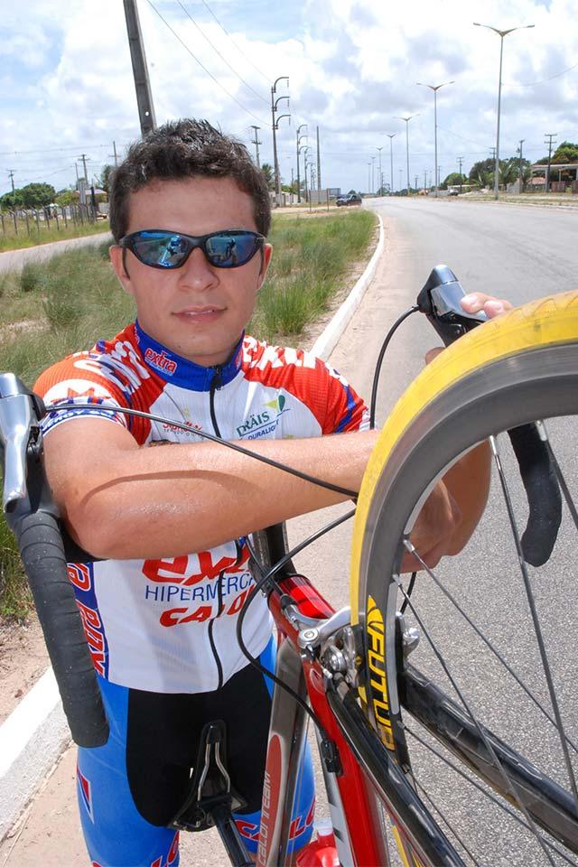 Kleber Ramos, ciclista paraibano. Foto: Rizemberg Felipe/Jornal da Paraíba