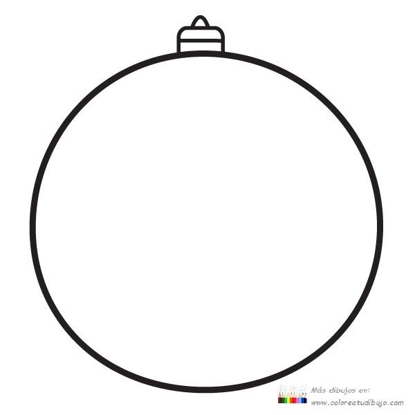 COLOREA TUS DIBUJOS: Bola de navidad libre para imprimir