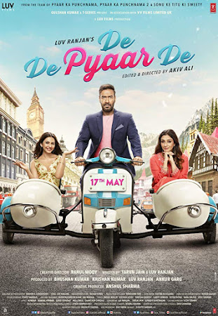 Poster Of Hindi Movie De De Pyaar De 2019 Full HD Movie Free Download 720P Watch Online