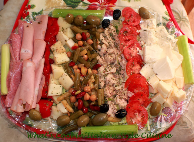 this is how to make a christmas day Antipasto tray