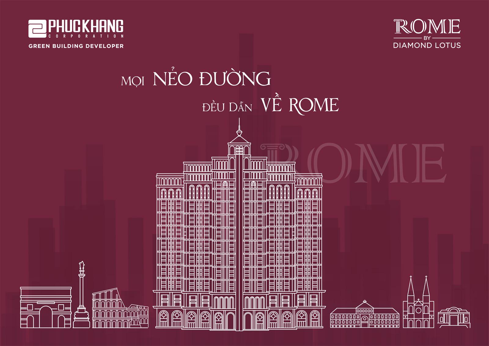 Mặt bằng dự án ROME DIAMOND LOTUS