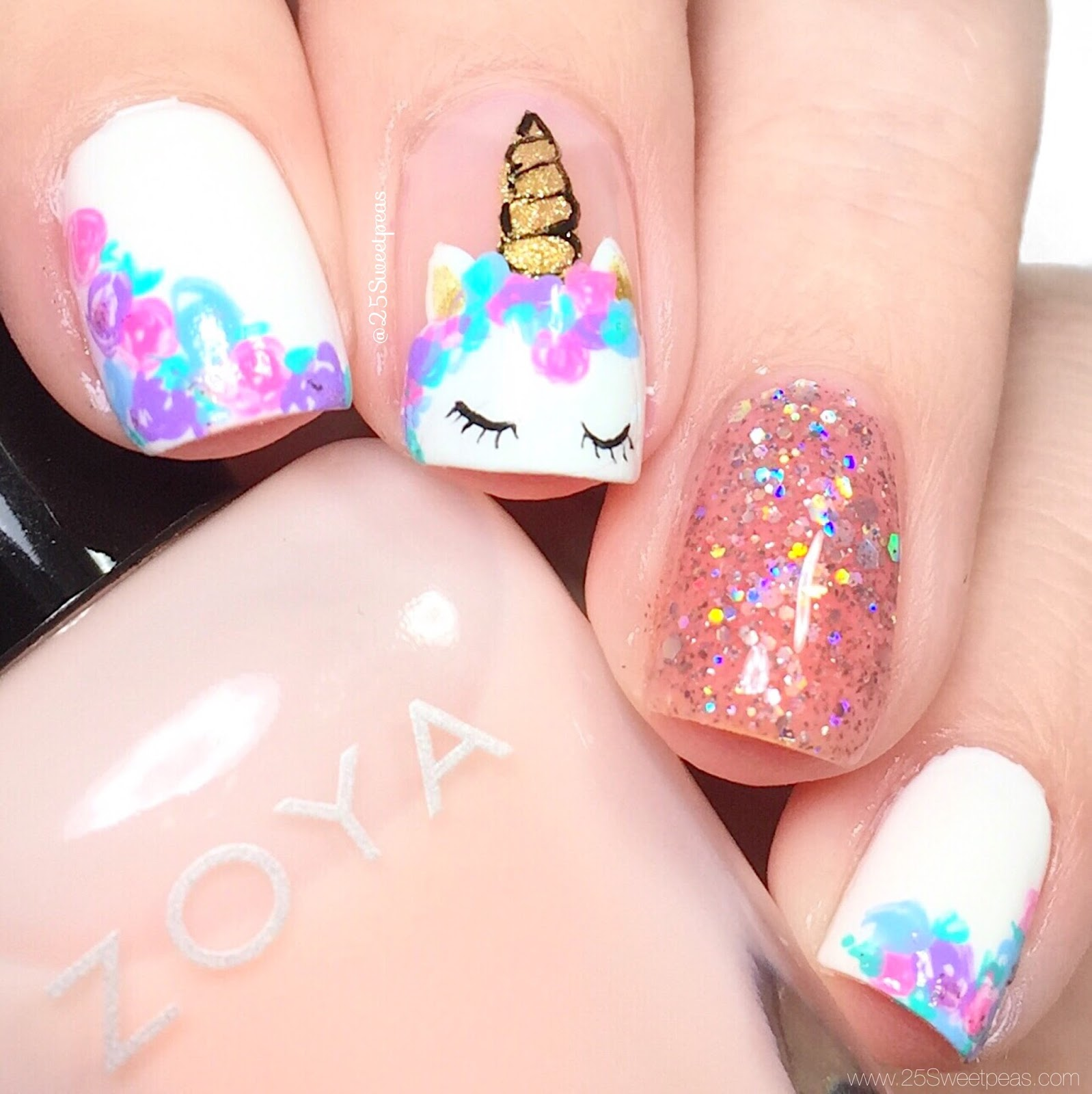 Unicorn Nail Art - Unicorn Nail Art + Tutorial Digital Dozen Mythical Creatures