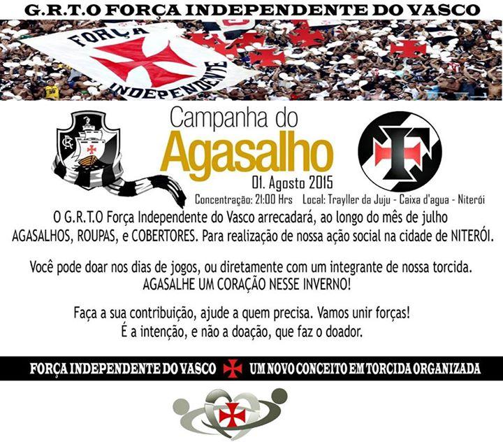 c443bf18eb Força Independente Campanha do Agasalho 2015