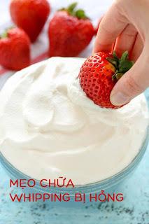 3 mẹo cách chữa whipping cream bị hư hỏng